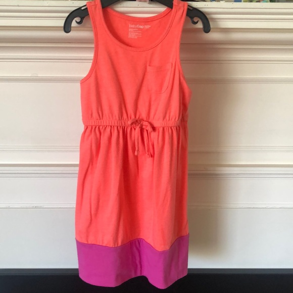 Gap Coral Colorblock Tank Dress
